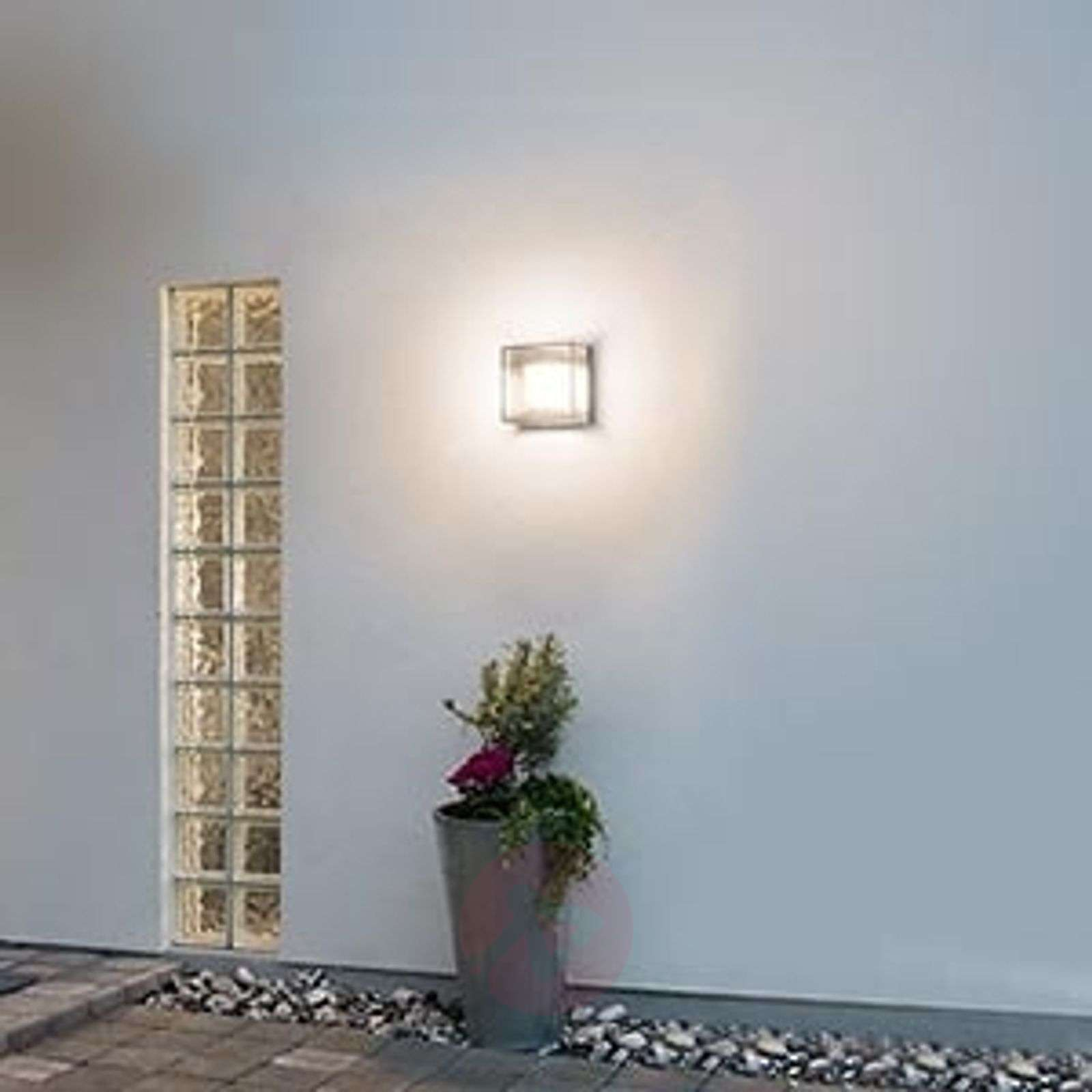 Compra aplique cuadrado de pared exterior led sanremo - Aplique de pared exterior ...
