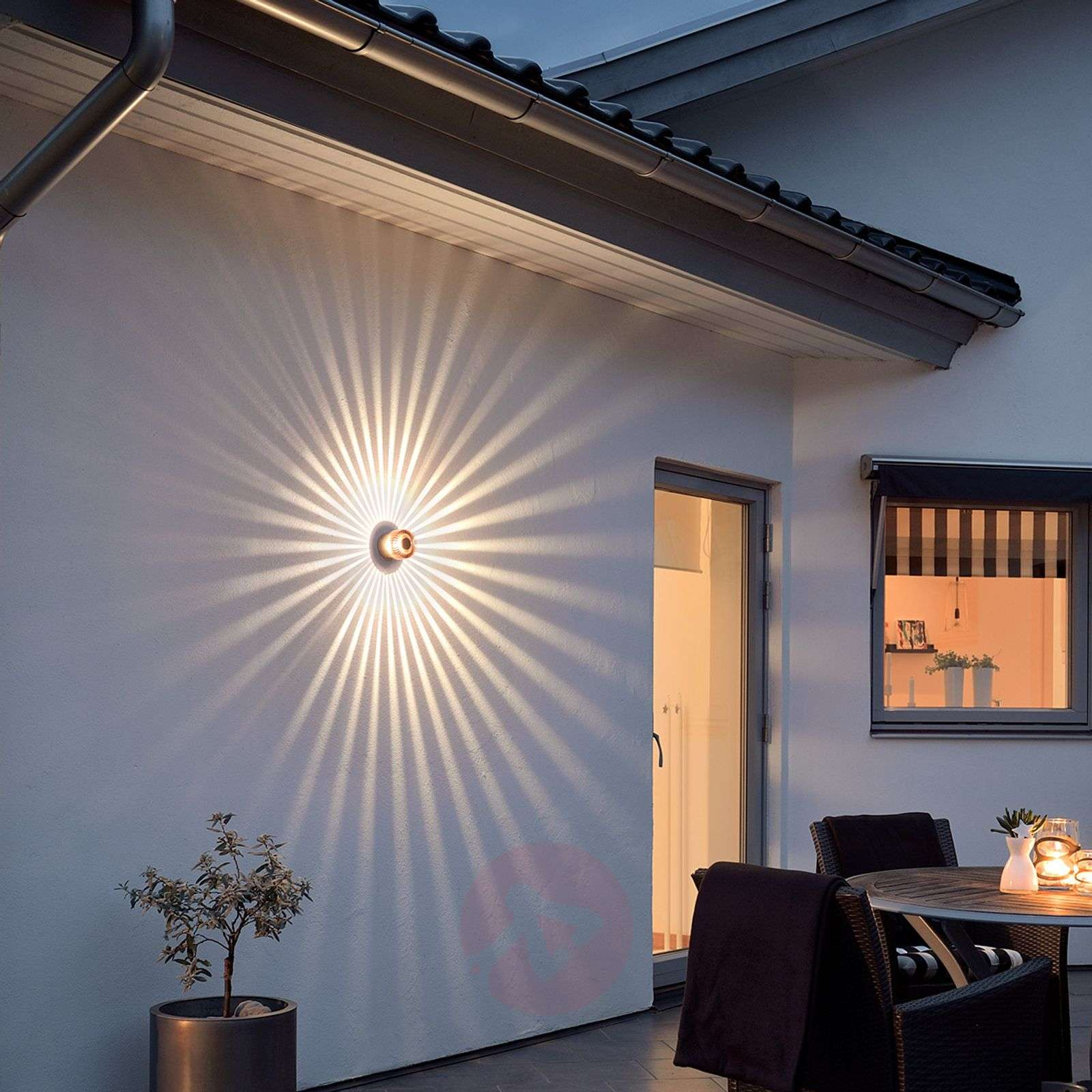 Compra aplique de pared exterior led color cobre monza - Aplique de pared exterior ...