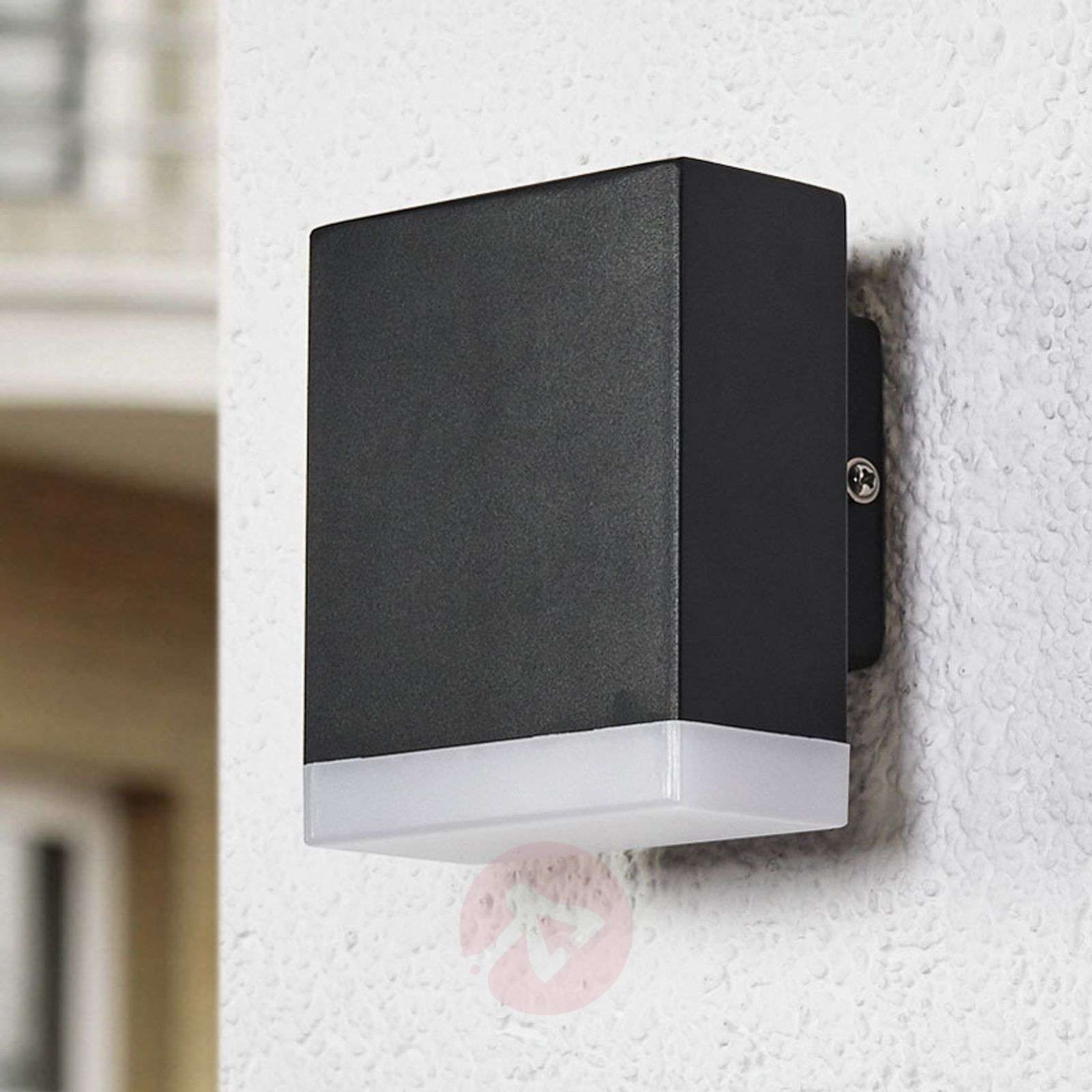 Compra aplique de pared exterior led moderno aya negro for Apliques de pared exterior led