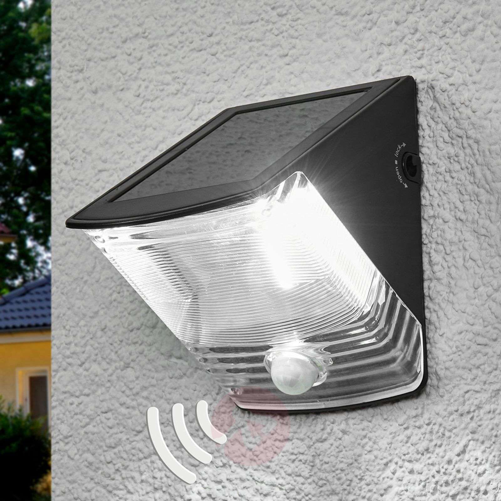 Aplique de pared LED solar SOL 04 con IP44 negro-1540166-01
