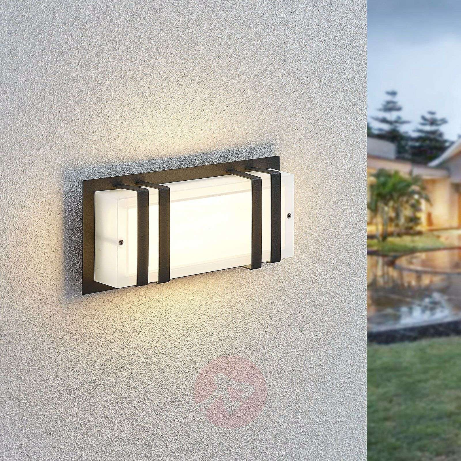 Aplique LED Paice, angular, blanco escarchado-9630082-02