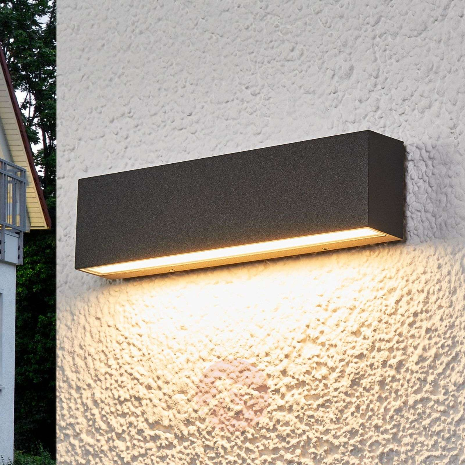 Aplique LED para ext. Elvira gris grafito, IP65-9616097-02