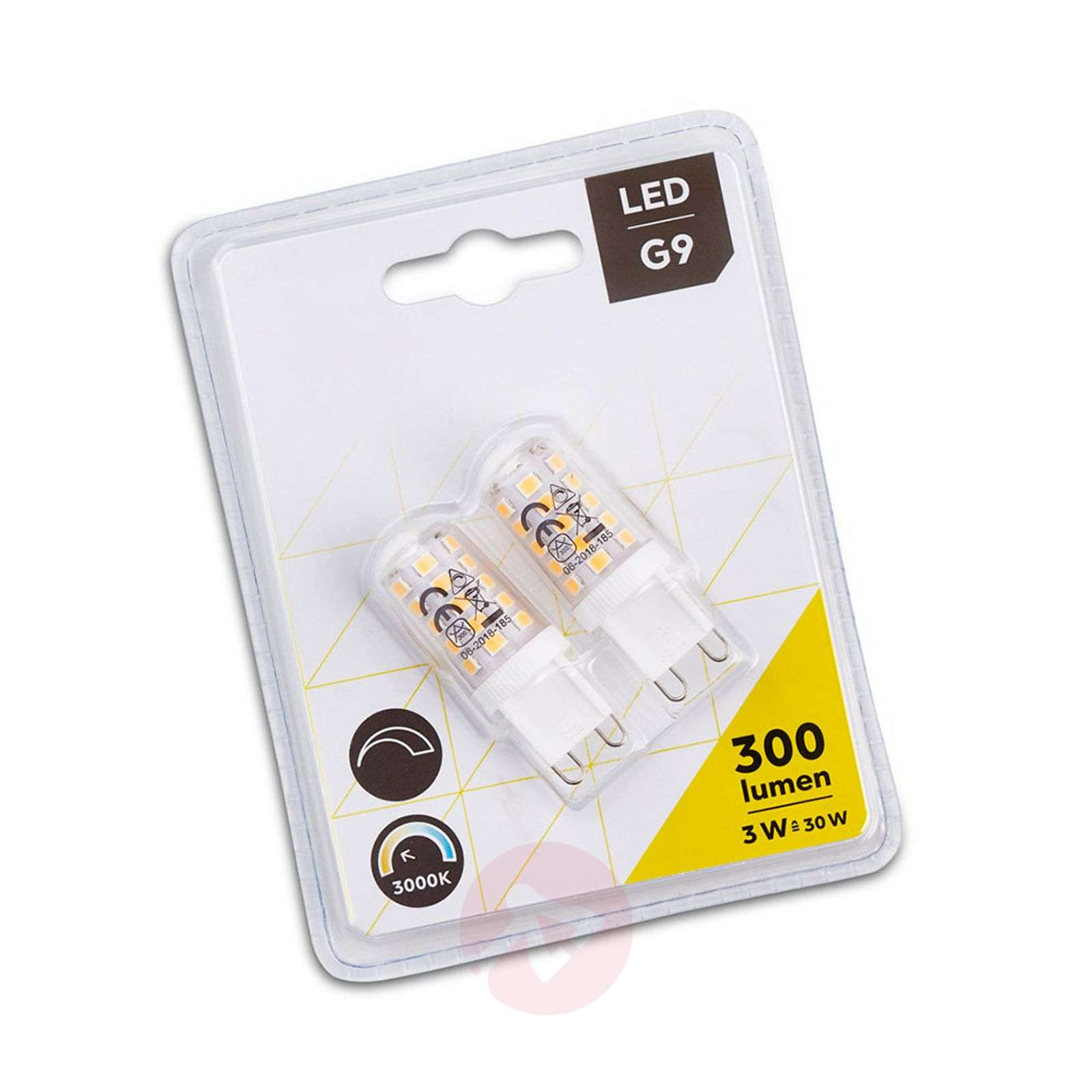 Bombilla LED bi-pin G9 3W en set doble-9004813-01