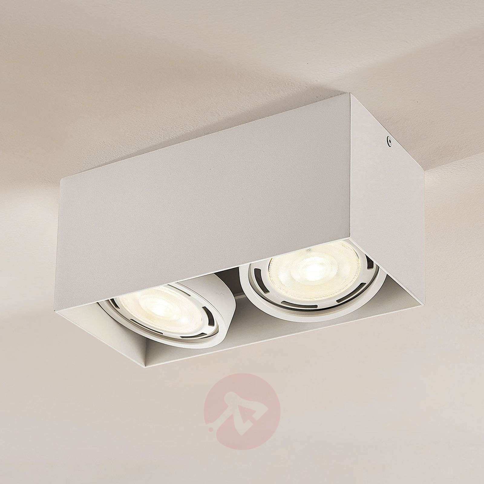 Downlight LED Rosalie, atenuable, 2 luces, blanco-9621909-02