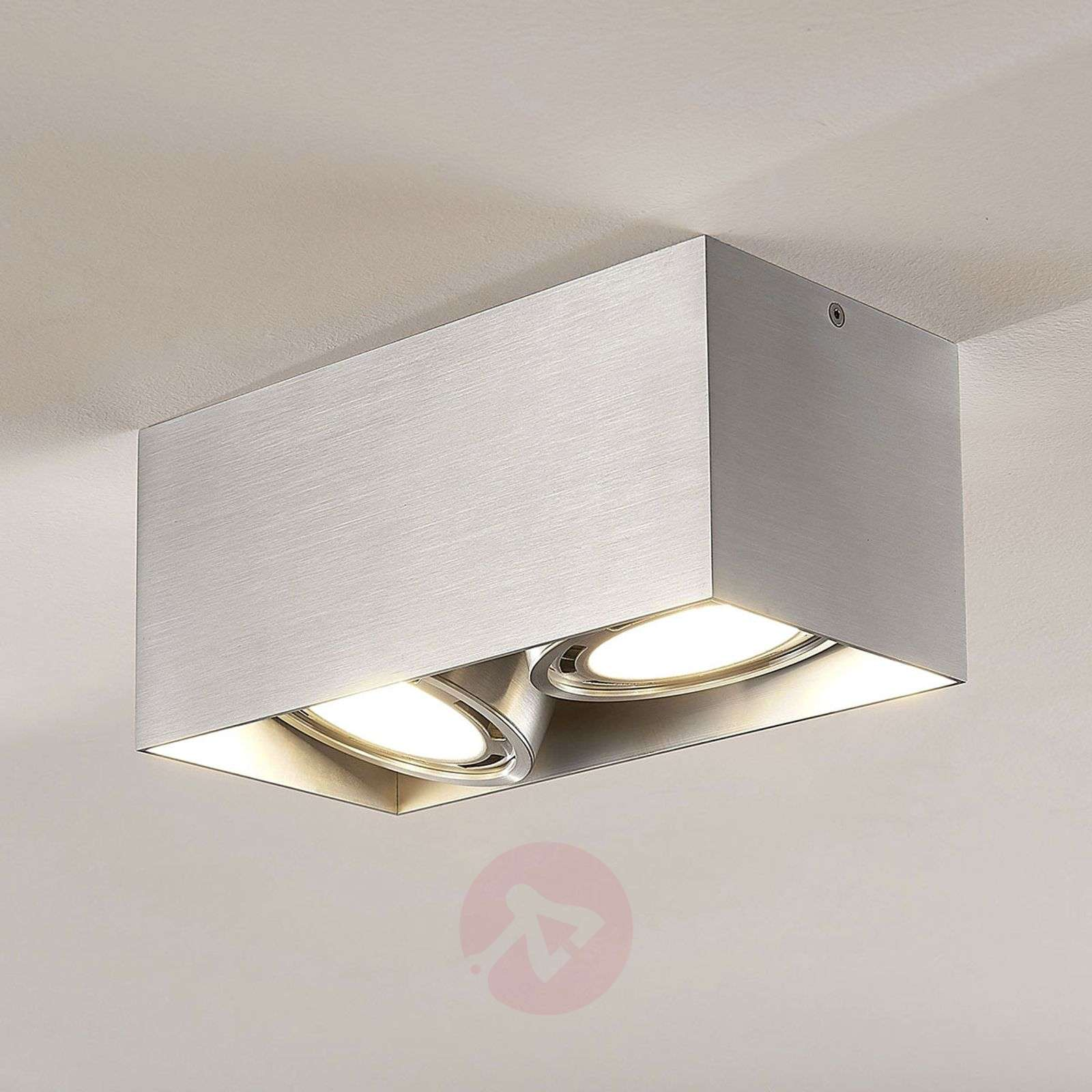 Downlight LED Rosalie, atenuable, angular, 2 luces-9621908-02