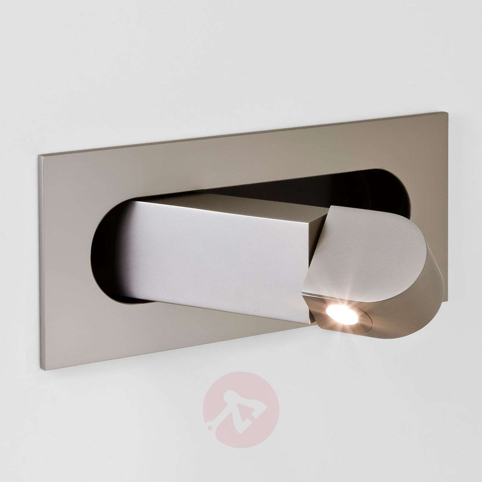 Lámpara de pared LED Digit luz de lectura, níquel-1020476-04