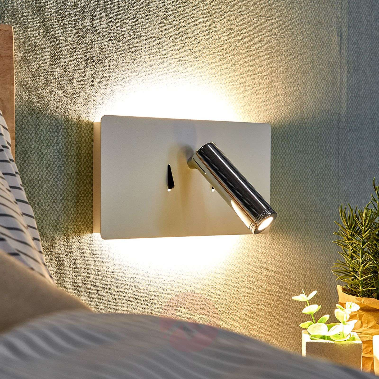 Lámpara de pared LED Elske con lámpara de lectura-9976050-02