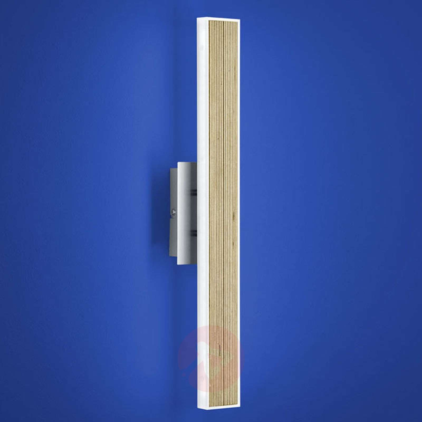 Lámpara de pared LED Kiruna Wood con interruptor-1554073-01