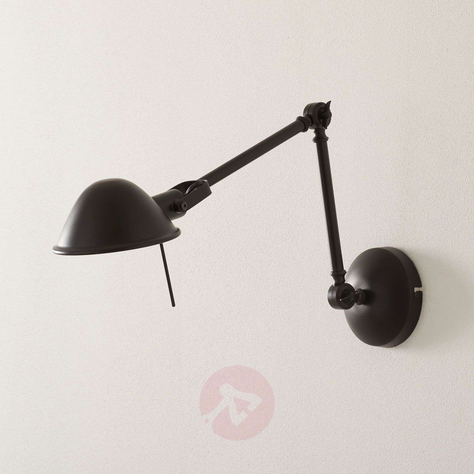 Lámpara de pared Torana flexible en negro-1509066-01