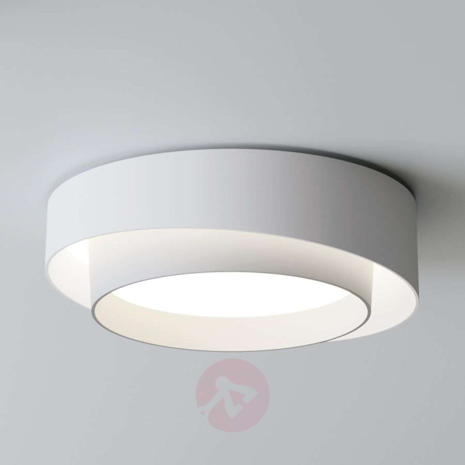 Compra l mpara de techo led de dise o centric blanca for Lamparas led diseno
