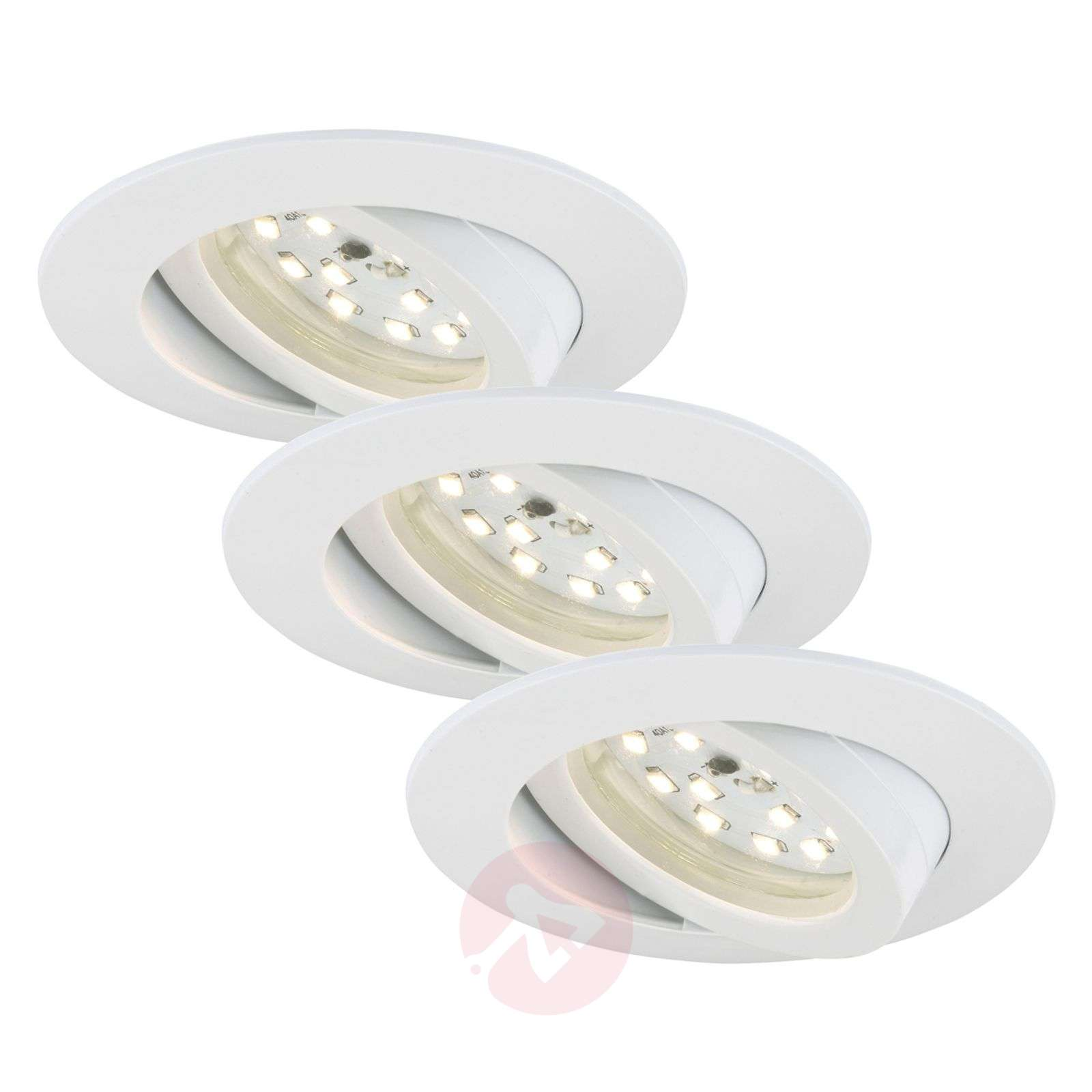 Lámpara empotrada LED Bert, set de 3-1510328-03