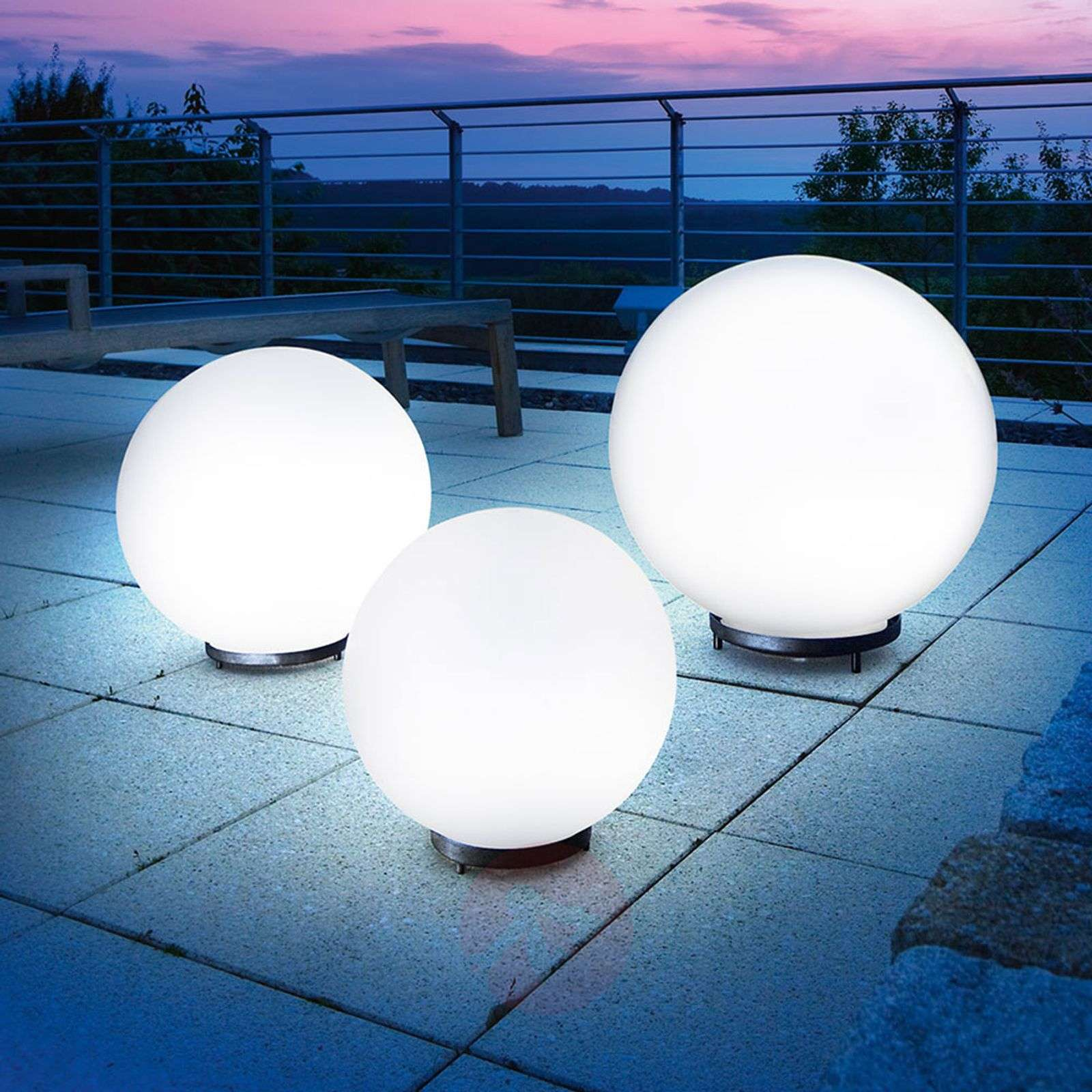 Lámpara esférica solar decorativa Mega Ball-3012224X-01
