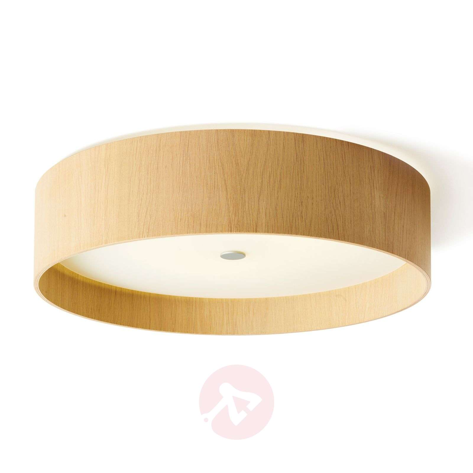 Lámpara LED de techo Lara wood circular roble 55cm-2600506-01