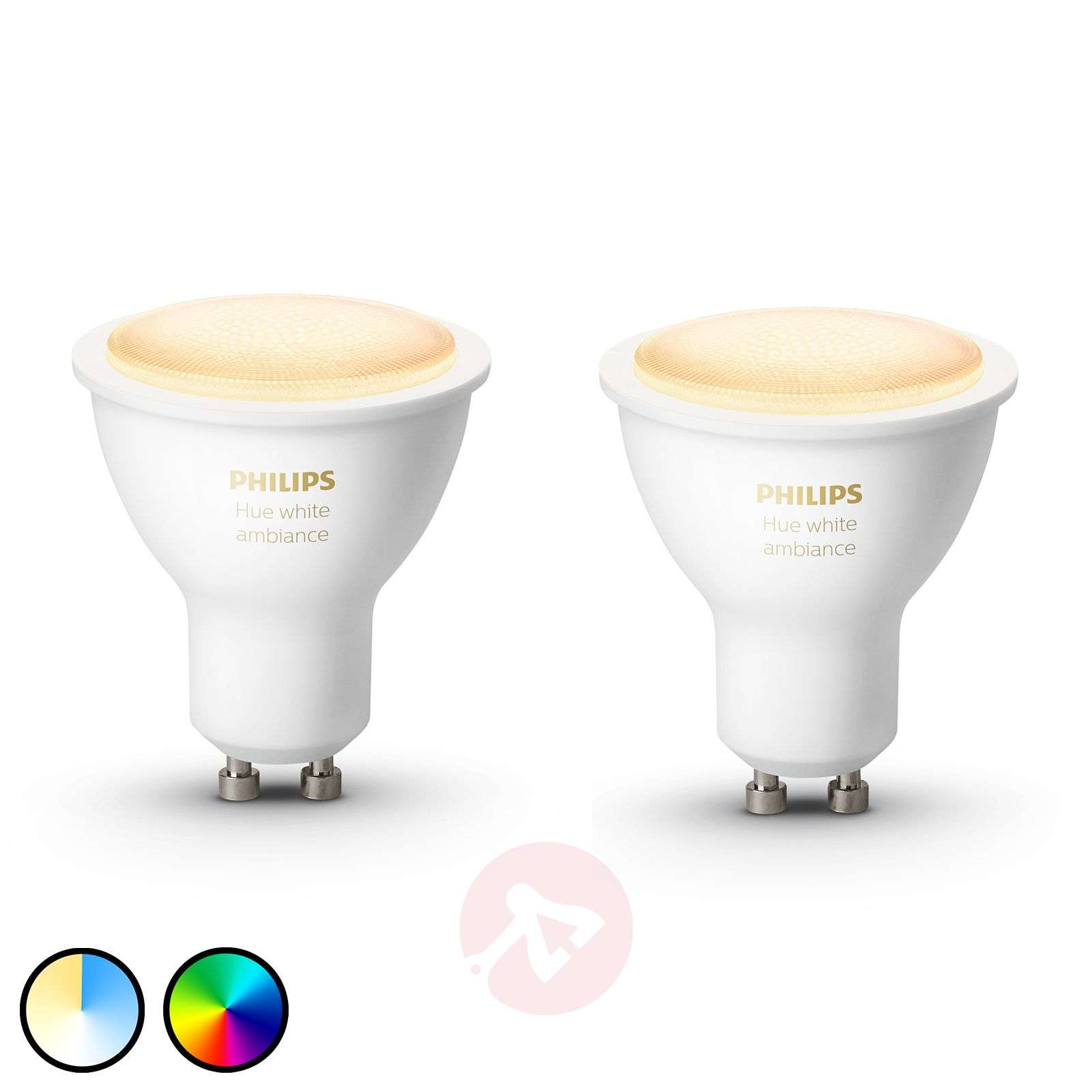 Philips Hue White Ambiance 5 W GU10 LED, set de 2-7534132-01