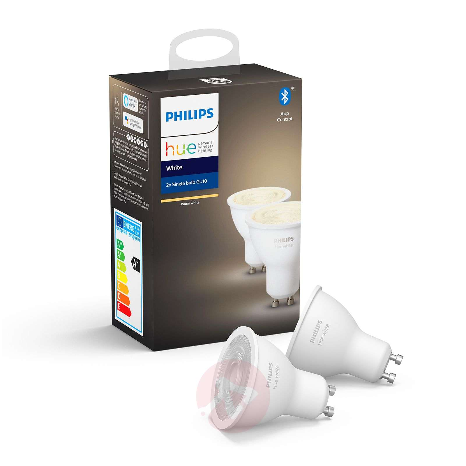 Philips Hue White bombilla LED 5,2 W GU10 set de 2-7534133-01