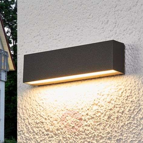 Aplique LED para ext. Elvira gris grafito, IP65