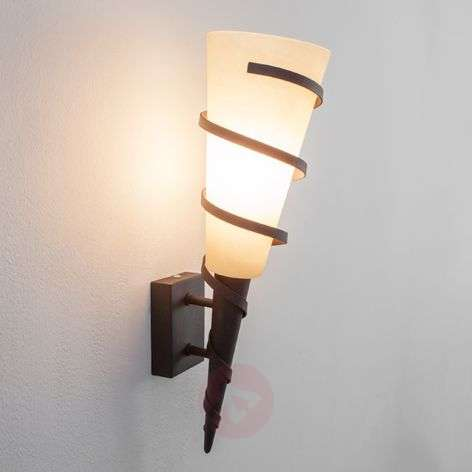 Aplique LED Rusty en forma de antorcha