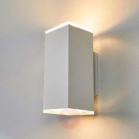 Aplique LED Scarlet con forma angular, blanco