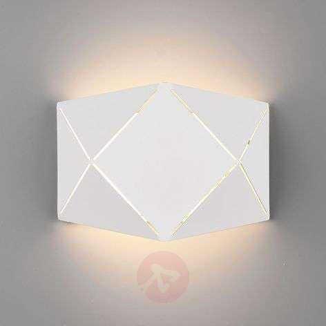 Aplique LED Zandor en blanco, anchura 18 cm