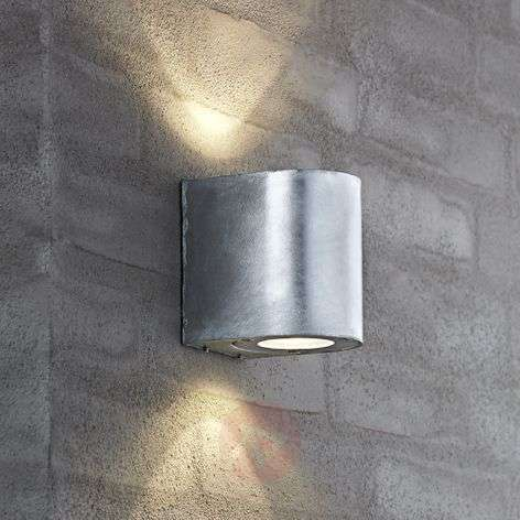 Aplique versátil de pared ext. LED Canto, acero