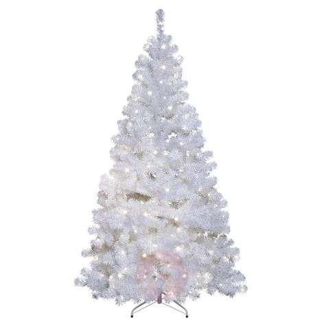 Árbol de abeto LED Ottawa blanco 2,1m 260LED