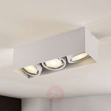 Downlight LED Rosalie, atenuable, 3 luces, blanco