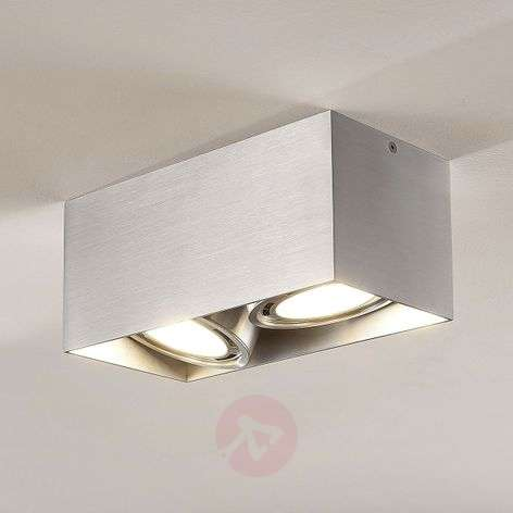 Downlight LED Rosalie, atenuable, angular, 2 luces