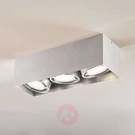 Downlight LED Rosalie, atenuable, angular, 3 luces