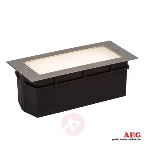 Foco de pared LED empotrable Wall, vidrio satinado