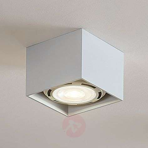 Foco de techo LED Mabel angular, blanco