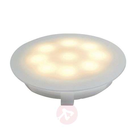 Foco empotrable LED satinado 1x1 W blanco cálido