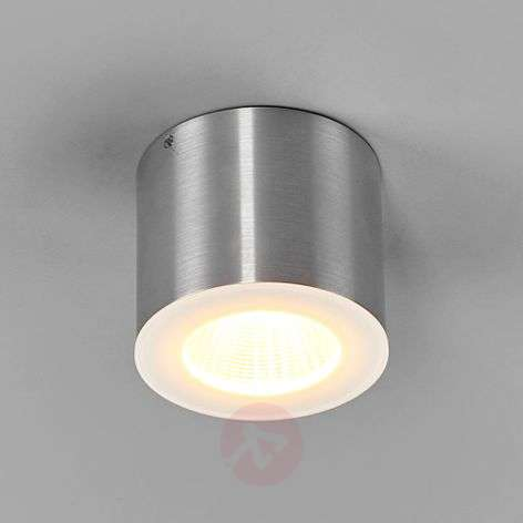 Foco LED de techo Oso IP44 en aluminio mate