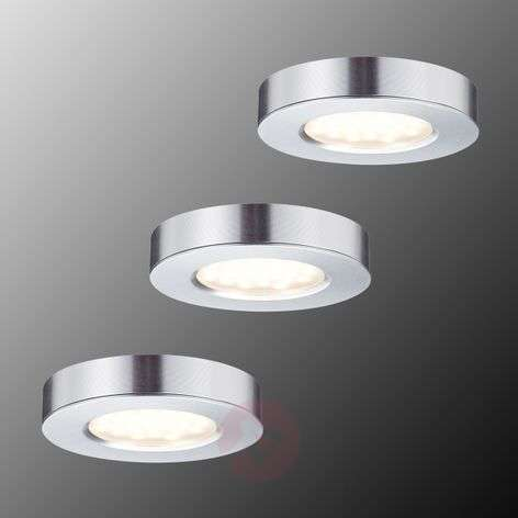 Foco LED Platy empotr./ superpo. mueble, set 3 u.