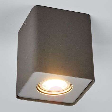 GU10 downlight LED Giliano, 1 luz angular, grafito