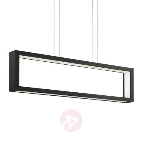 Lámpara colgante LED cristal Revealed Open negro