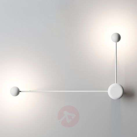 Lámpara de pared de diseño Pin LED, blanco 2 br.