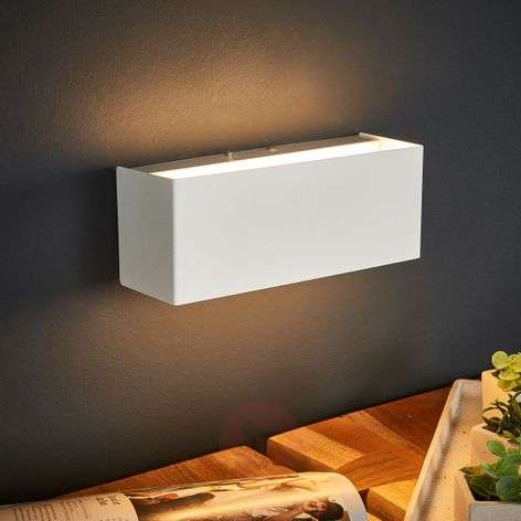 Lámpara de pared LED Kimberly, 23x9cm, blanco