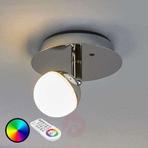 Lámpara de pared LED RGB Olivine, control remoto