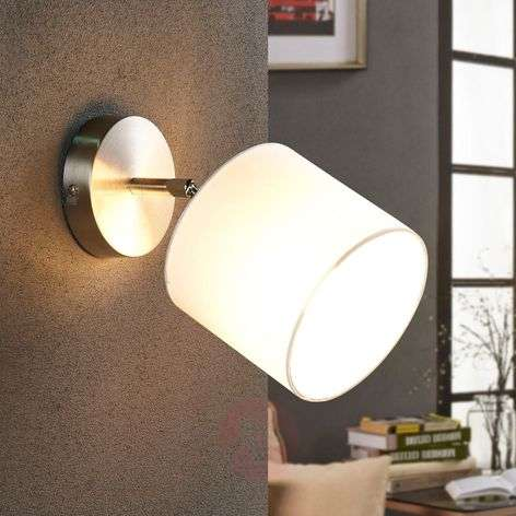 Lámpara de pared textil LED Mairi ajustable blanco