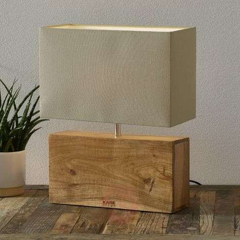 Lámpara de sobremesa RECTANGULAR WOOD, base madera