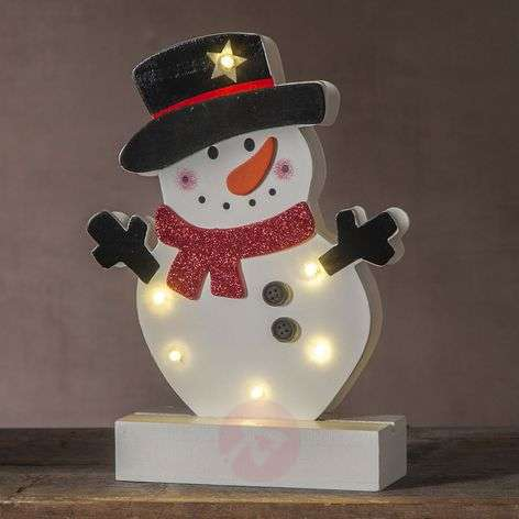 Lámpara decorativa LED Freddy Muñeco de nieve