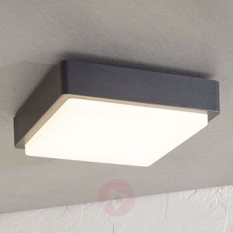 Lámpara LED de techo exterior Nermin IP65, angular