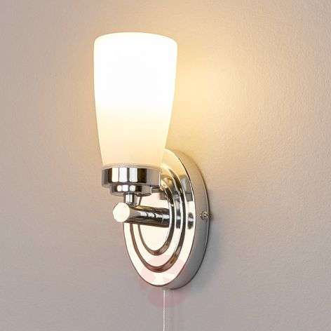 Lámpara pared LED baño Leonore con interr. de tiro