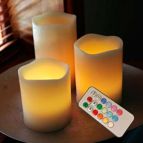 LED Candle Wax cambio de color RGB, control remoto