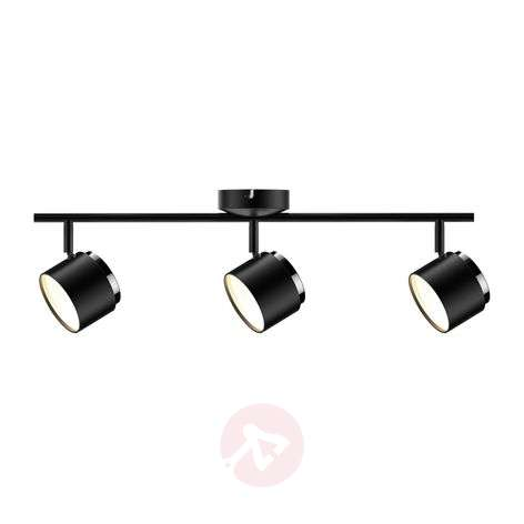 Lindby Marrie foco LED, negro, 3 luces, barra