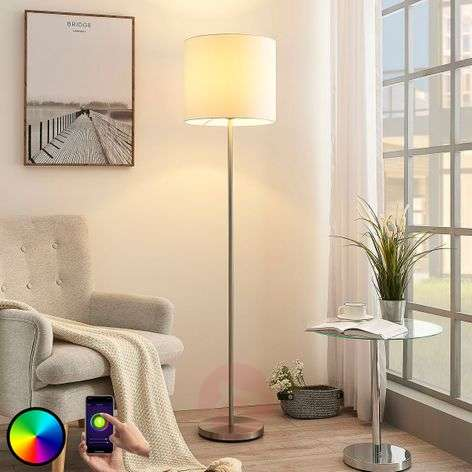 Lindby Smart lámpara de pie LED Everly, app, RGB