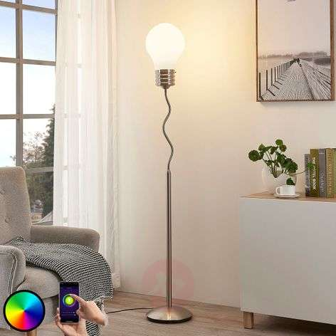 Lindby Smart lámpara de pie LED RGB Mena