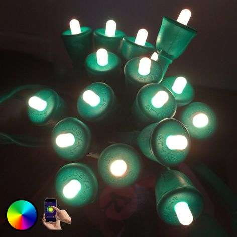 MiPow Playbulb String cadena LED, 20 m, verde