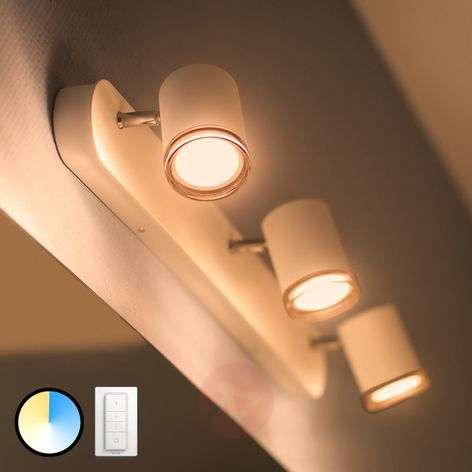 Philips Hue White Ambiance Adore foco LED, 3 focos
