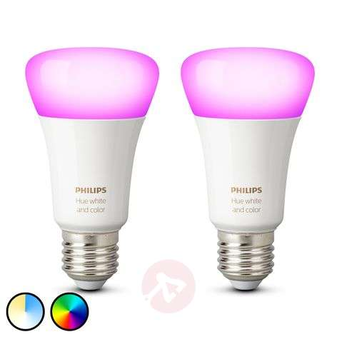 Philips Hue White & Color Ambiance 9W E27, set 2